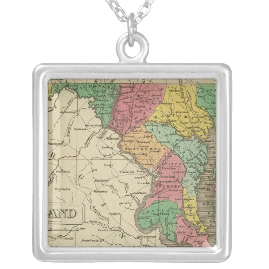 Maryland 5 silver plated necklace
