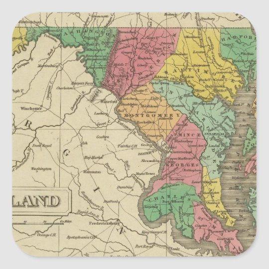 Maryland 5 square sticker