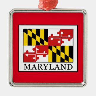 Maryland Adorno Navideño Cuadrado De Metal