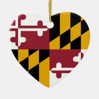 Maryland Adorno Navideño De Cerámica En Forma De Corazón