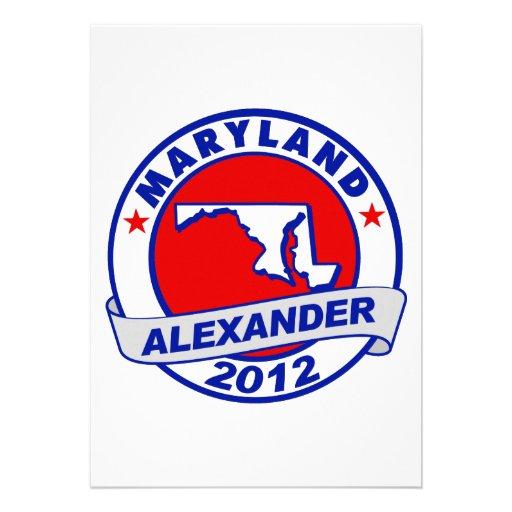 Maryland Alexander Custom Invitations