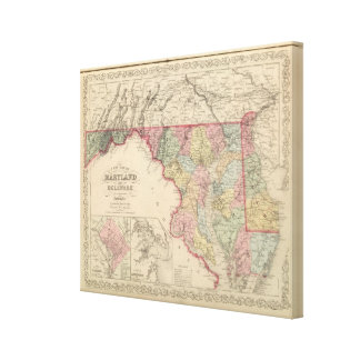 Maryland and Delaware Canvas Print