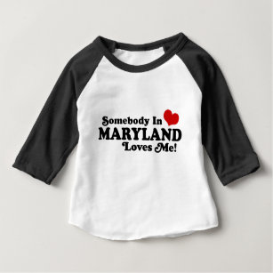 Someone In Maryland Loves Me Baby Clothes Apparel Zazzle