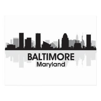 Maryland Baltimore Skyline Postcard