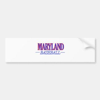 Maryland baseball DESIGNS Bumper Sticker