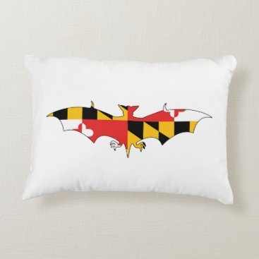 USA Themed Maryland Bat Accent Pillow