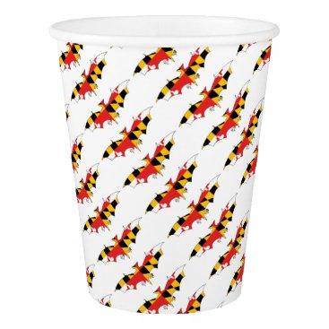 USA Themed Maryland Bat Paper Cup