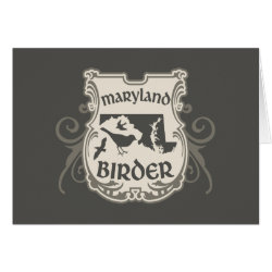 Greeting Card with Maryland Birder design