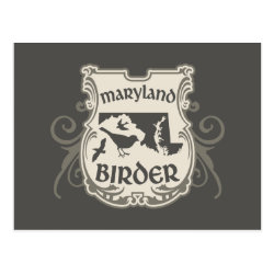Postcard with Maryland Birder design