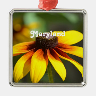 Maryland Black Eyed Susan Metal Ornament