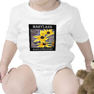 Maryland Black Eyed Susan Baby Bodysuits
