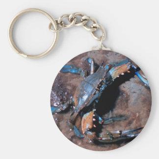 Maryland Blue Crab Basic Round Button Keychain