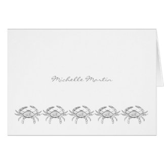Maryland Blue Crab Note Cards