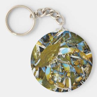 maryland blue crabs basic round button keychain