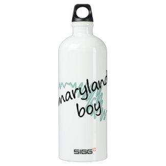 Maryland Boy on Child's Maryland Map Drawing Aluminum Water Bottle