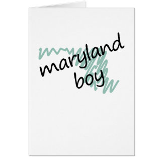 Maryland Boy on Child's Maryland Map Drawing Card
