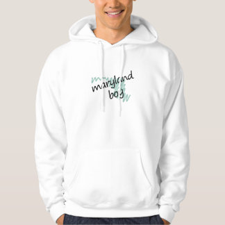 Maryland Boy on Child's Maryland Map Drawing Hoodie