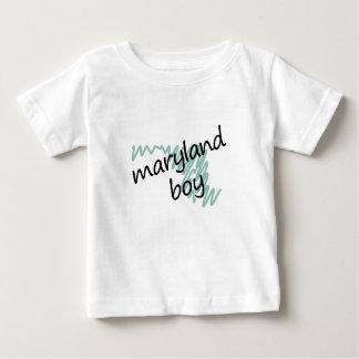 Maryland Boy on Child's Maryland Map Drawing T-shirt