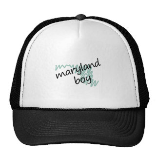 Maryland Boy on s Maryland Map Drawing Trucker Hat