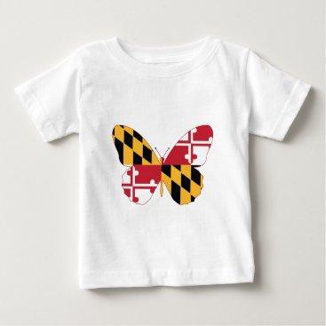 USA Themed Maryland Butterfly Baby T-Shirt