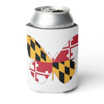 USA Themed Maryland Butterfly Can Cooler
