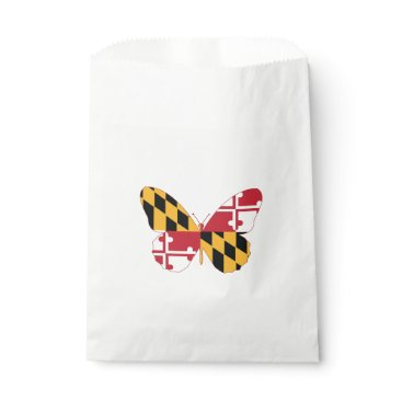 USA Themed Maryland Butterfly Favor Bag