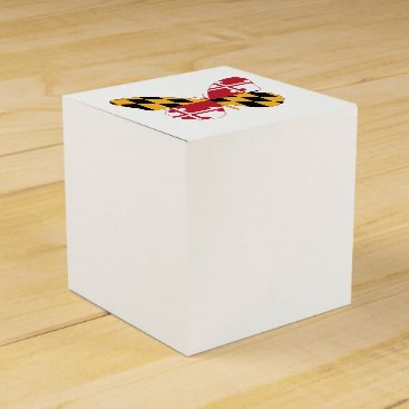 USA Themed Maryland Butterfly Favor Box