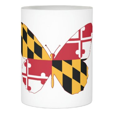 USA Themed Maryland Butterfly Flameless Candle