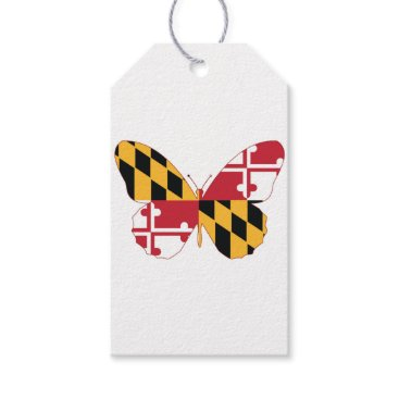 USA Themed Maryland Butterfly Gift Tags