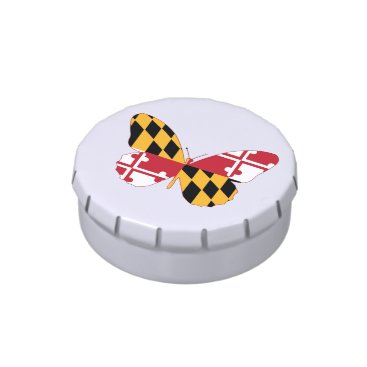 USA Themed Maryland Butterfly Jelly Belly Candy Tins