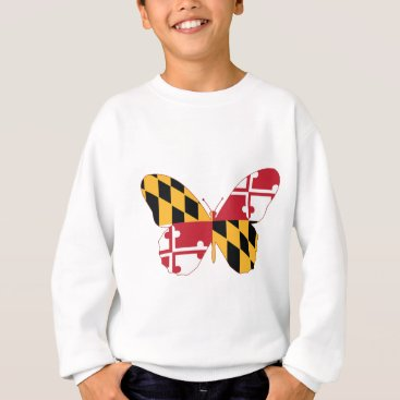 USA Themed Maryland Butterfly Sweatshirt
