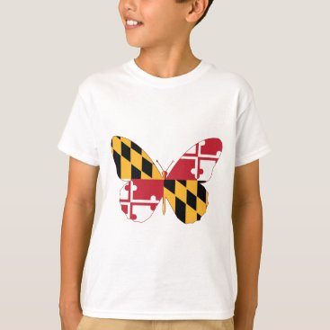 USA Themed Maryland Butterfly T-Shirt