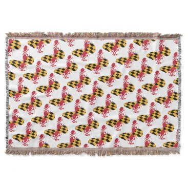 USA Themed Maryland Butterfly Throw Blanket