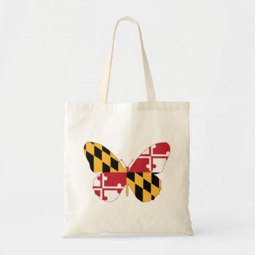 USA Themed Maryland Butterfly Tote Bag