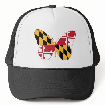 USA Themed Maryland Butterfly Trucker Hat