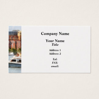 Maryland - Cabin Cruiser by Baltimore Skyline Business Card