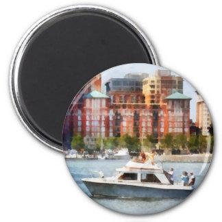 Maryland - Cabin Cruiser by Baltimore Skyline Refrigerator Magnet