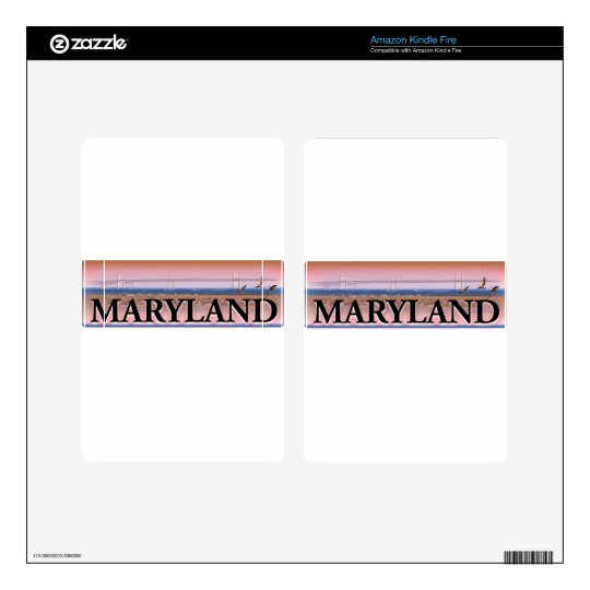 Maryland Chesapeake Bay Scene Decal For Kindle Fire
