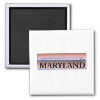 Maryland Chesapeake Bay Scene Magnet