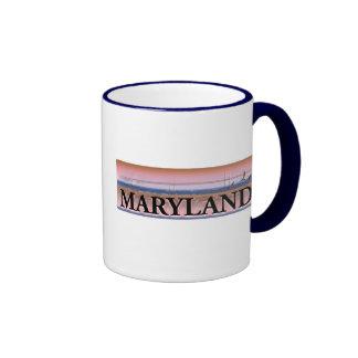 Maryland Chesapeake Bay Scene Ringer Coffee Mug
