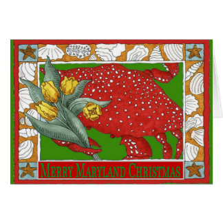 Maryland Christmas Crab Card