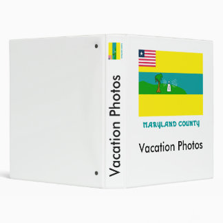 Maryland County Flag with Name 3 Ring Binder