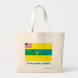 Maryland County Flag with Name Tote Bags