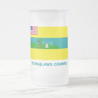 Maryland County Flag with Name Mug