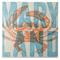 Maryland Crab Ceramic Tile