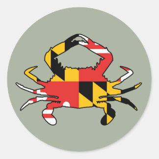 Maryland Crab Classic Round Sticker