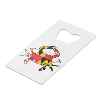 Maryland Crab Credit Card Bottle Opener