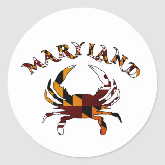 Maryland Crab Flag Classic Round Sticker