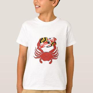 Maryland Crab & Flag Design T-Shirt