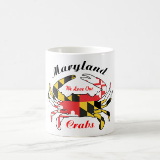 Maryland crab lovers coffee mug state flag